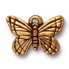 monarch butterfly charm ANTIQUE GOLD