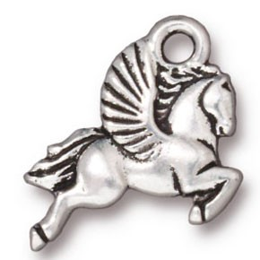 pegasus charm ANTIQUE SILVER