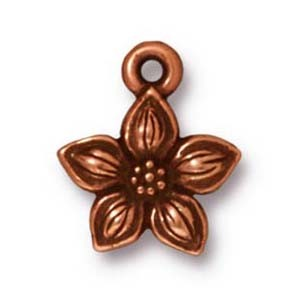 star jasmine charm ANTIQUE COPPER