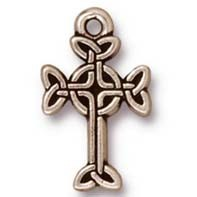 medium celtic cross charm ANTIQUE  SILVER