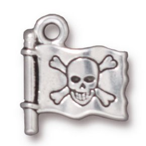 jolly roger charm ANTIQUE SILVER