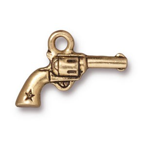 six shooter charm ANTIQUE GOLD