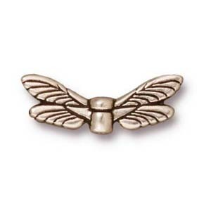dragonfly wings bead SILVER tone