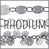 All Rhodium Finish Chains
